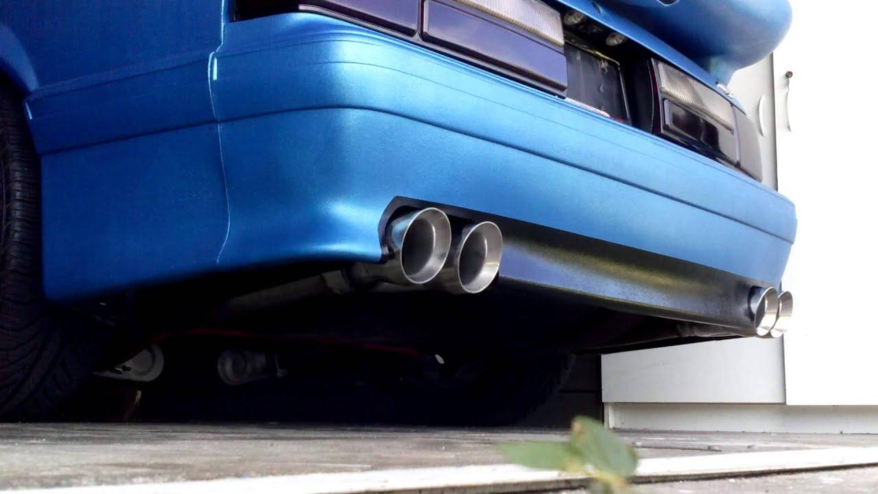 Mustang Foxbody Custom Exhaust Youtube