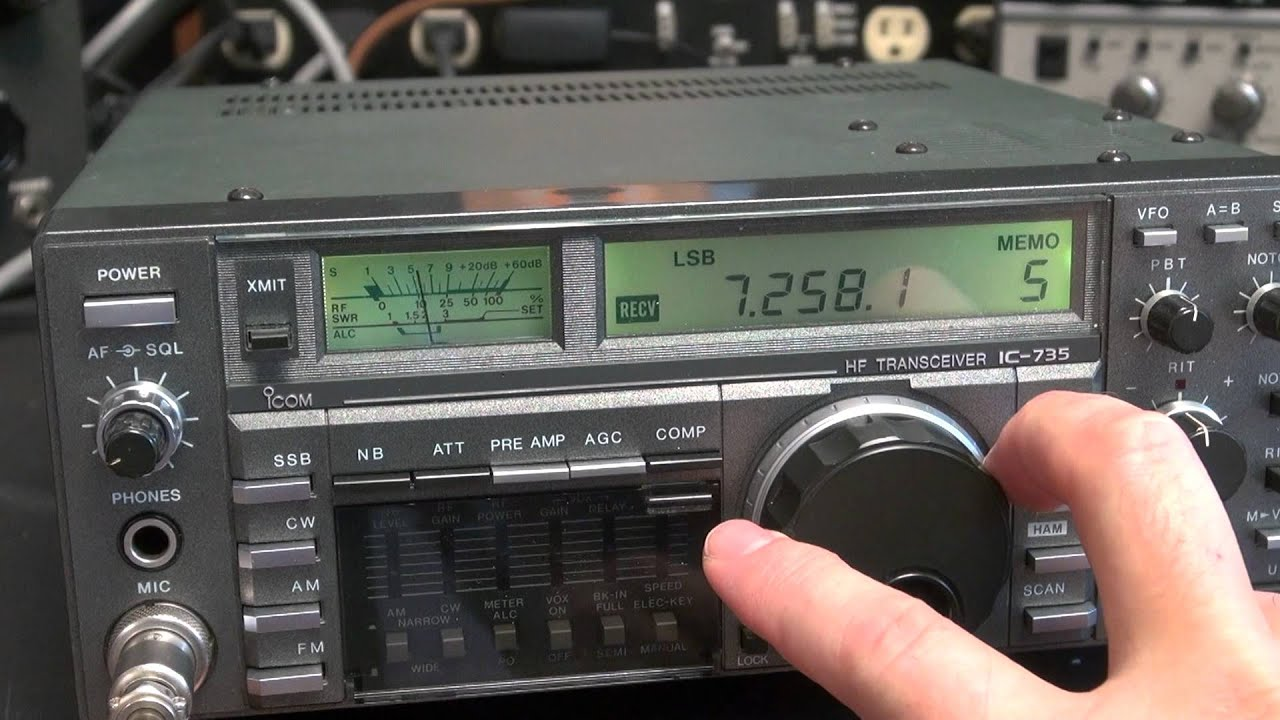 icom ic 735 ham radio hf transceiver checkout qso demo youtube rh youtube com Icom Radio History Icom Radio History
