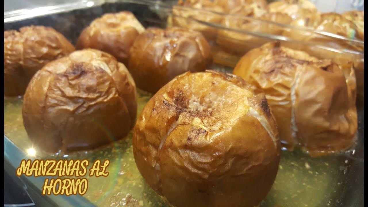 Manzanas asadas sin azucar al horno