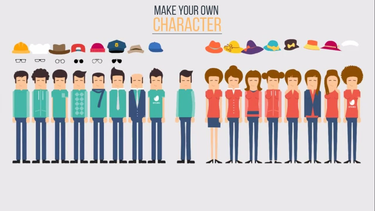Make Character Animation with Character Toolkit Maker - After Effects  Template