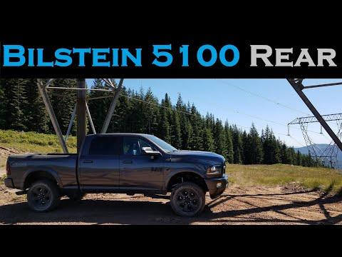 Bilstein 5100 vs 4600 Rear Shocks - Upgrade and Review - 2017 Ram 2500 Cummins