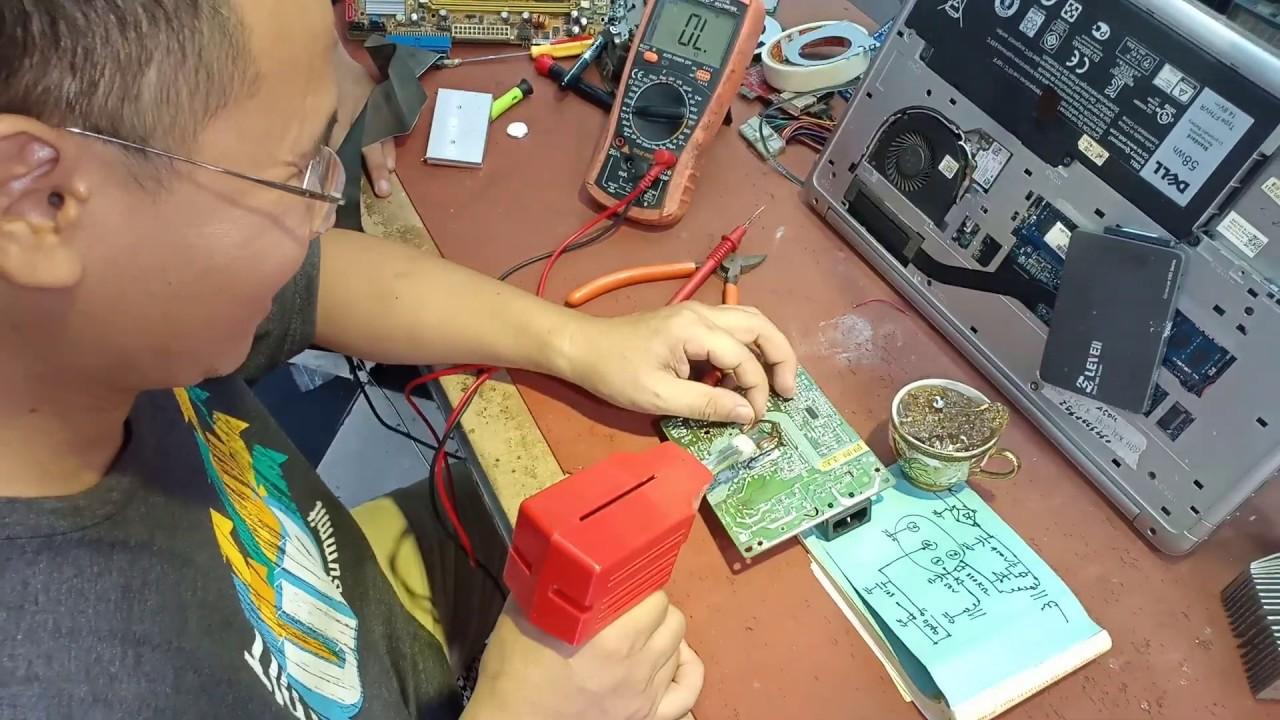 Tomart Hùng-Tuyệt chiêu sửa nguồn màn hình máy tính lcd-Chữa bài cho học sinh