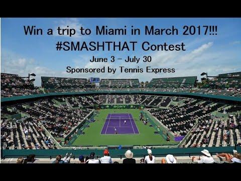 #SmashThat Contest with FREE trip to Miami | Tennis Express