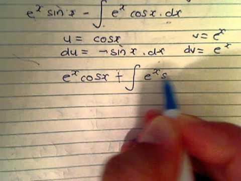 Integrate E^x Sin X