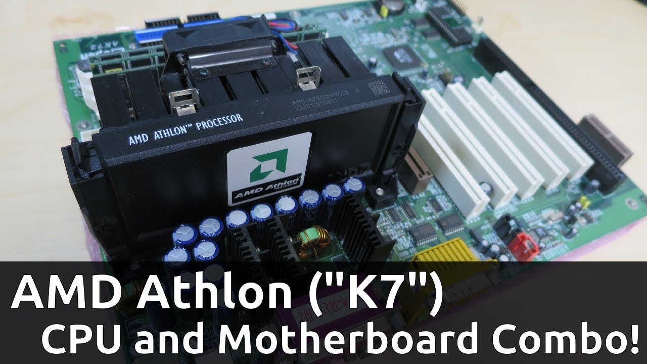 Close Look At Amd Athlon Slot A K7 Motherboard Cpu Akihabara Junk Finds Youtube