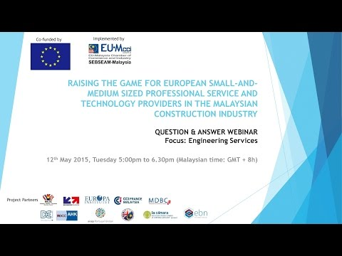 Webinar: Professional Services Sector – Support for European Businesses in Malaysia