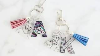 Shrinky Dink Keepsake Keychains   Unique Personalized Gift For Mom Or Dad