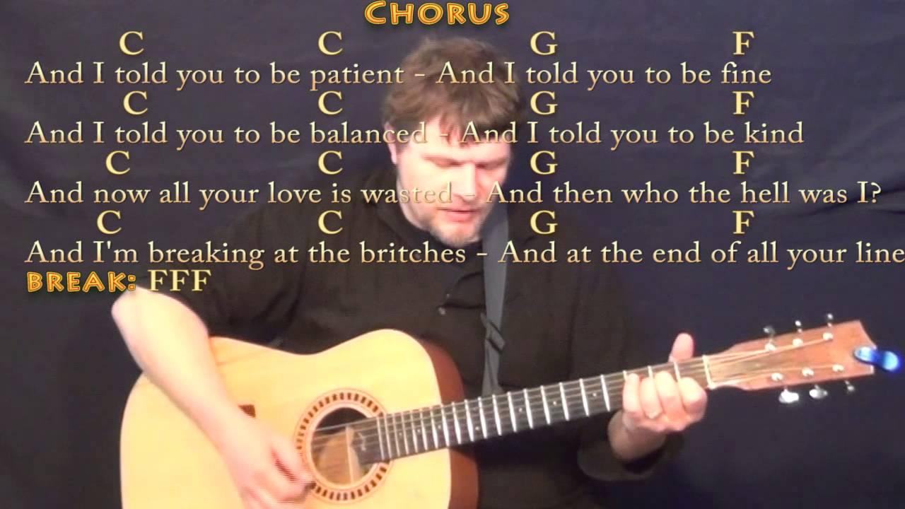 Skinny Love Bon Ivers Strum Guitar Cover Lesson With Chordslyrics