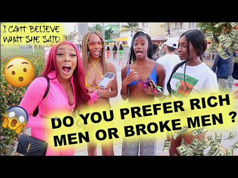 DATING RICH MEN VS. BROKE MEN WHAT DO WOMEN PREFER AND WHY | PUBLIC INTERVIEW  | Ashley Deshaun