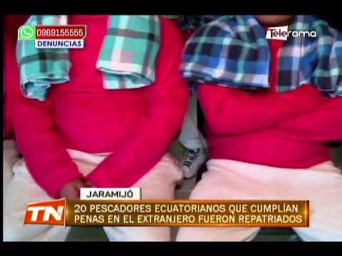 20 pescadores ecuatorianos que cumplían penas en el extranjero fueron repatriados