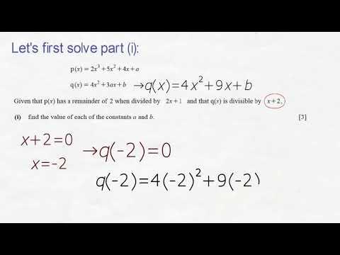 Past paper problem  IGCSE  Additional Mathematics  0606/11/O/N/18