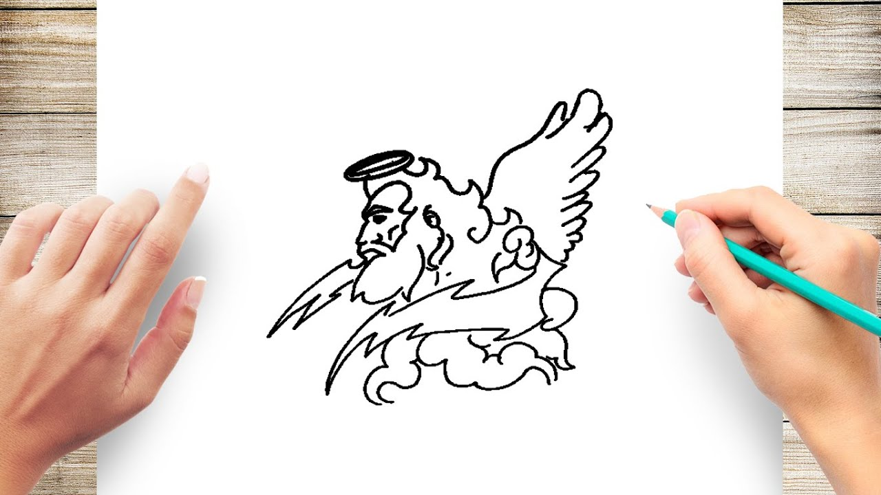 How To Draw Zeus Step By Step Easy Youtube