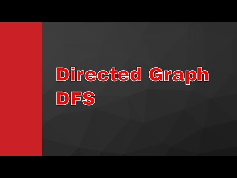 Directed Graph | Depth First Search (DFS) | Graph Adjacency List