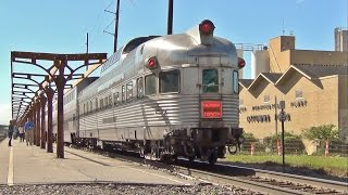 California Zephyr Dome-Observation Car on Amtrak, Ottumwa, IA 6/1/15