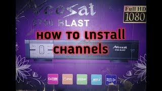 How to install channels neo set hd receiver video