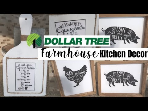Dollar Tree DIY | Farmhouse DIY | DIY Farmhouse Kitchen Decor | Dollar Tree Kitchen Decor