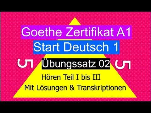 смотрите сегодня Goethe Zertifikat A1 Start Deutsch 1 übungssatz