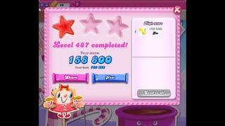 Candy Crush Saga Level 487 ★ NO BOOSTER
