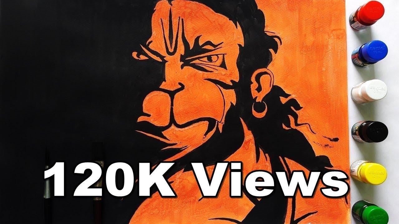 the hanuman drawing the angry hindu art bajrang bali 2017