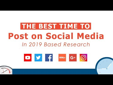 The Best Times To Post On Social Media | Research Viral Videos 2019