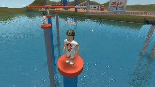 ROBLOX: MY MOM and I ATTENDED a WATERY SCAVENGER HUNT! (ROBLOX Wipeout)