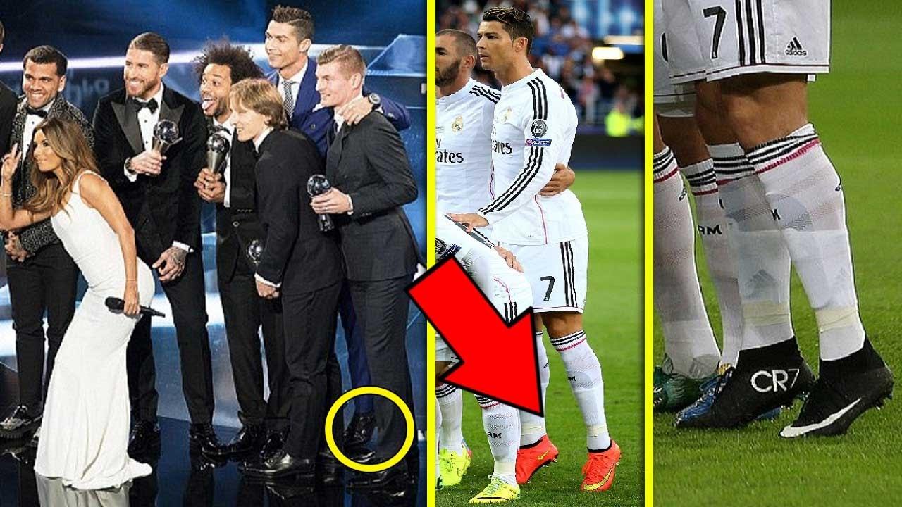 هل تعلم لماذا يبدو كريستيانو رونالدو أطول من زملائه؟ إكتشف خُدعته ولماذا يفعل ذلك!