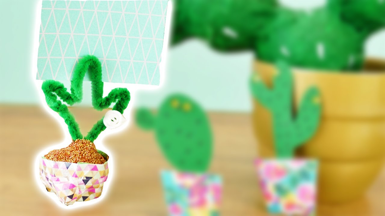 kaktus diy deutsch kakteen fotohalter basteln deko. Black Bedroom Furniture Sets. Home Design Ideas