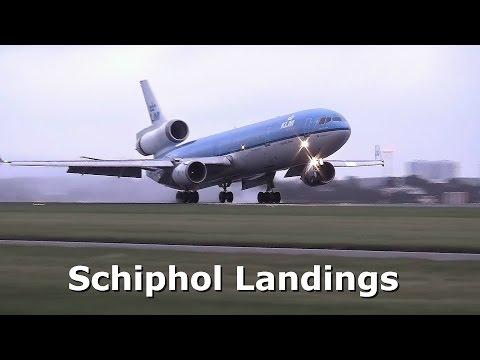 Amsterdam Airport Schiphol, 20 landings on runway 18R-36L (Polderbaan)