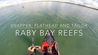 Snapper, Flathead and Tailor Fishing the Raby Bay Reefs on Dragon Kayak