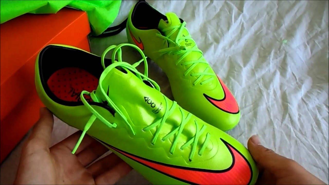 Nike Mercurial Vapor X FG Electric Green Unboxing - YouTube