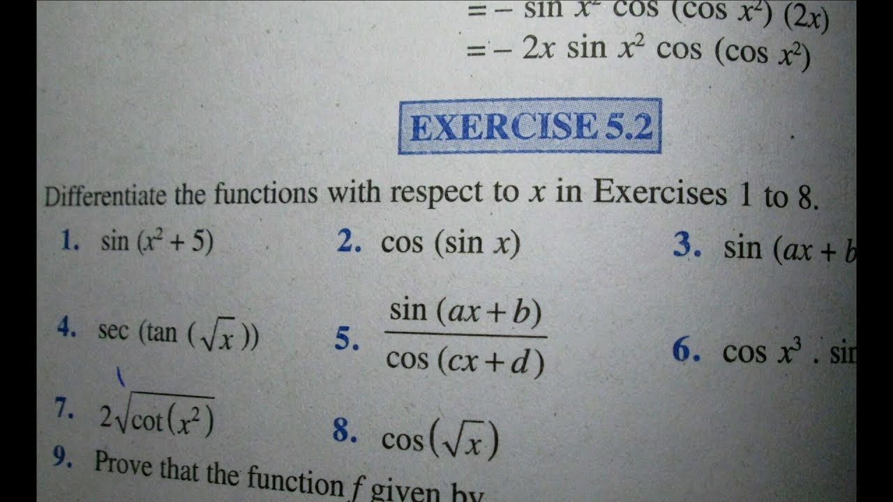 12 th (NCERT) Mathematics-DIFFRENTIATION (CALCULUS) | EXERCISE-5 2  (Solution)|Pathshala ( Hindi )