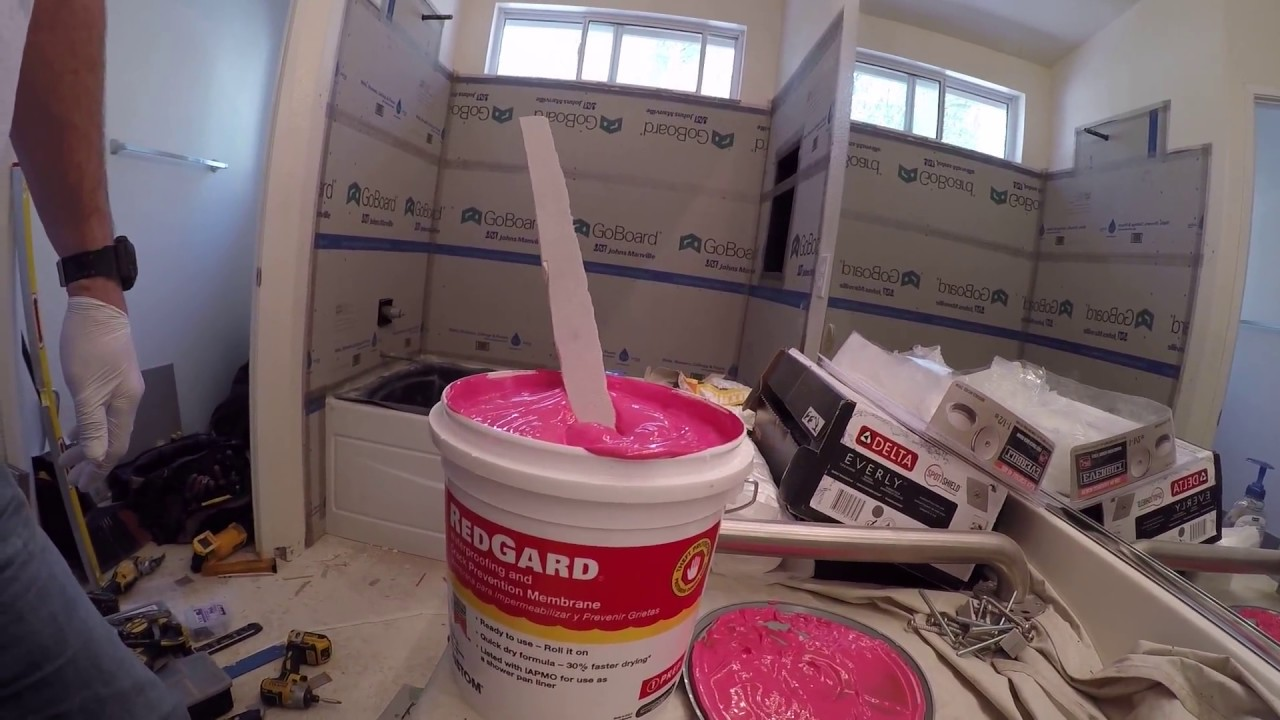 How to Install Go Board Tile Backer Board for a Shower - YouTube