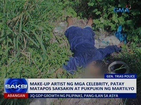 Make-up artist ng mga celebrity, patay matapos saksakin at pukpukin ng martilyo
