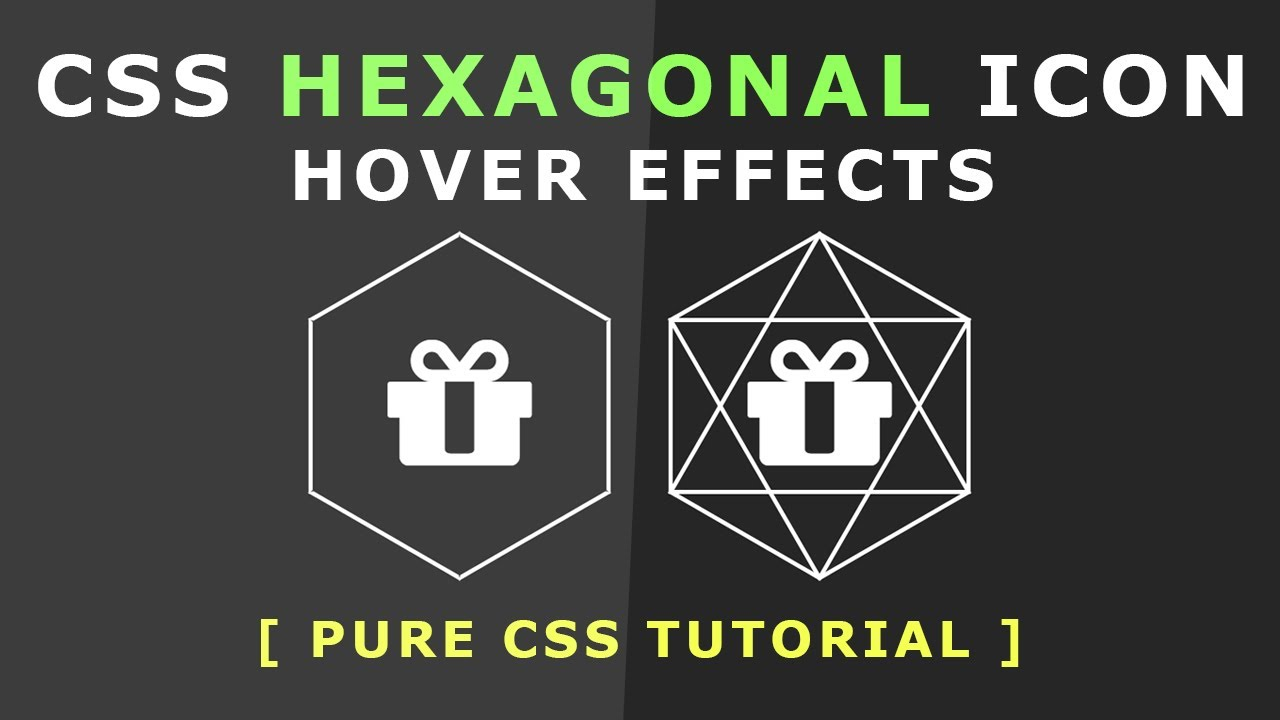 Css Hexagonal Icon Hover Effects - Css Animated Border Effects - Pure Css  Tutorials