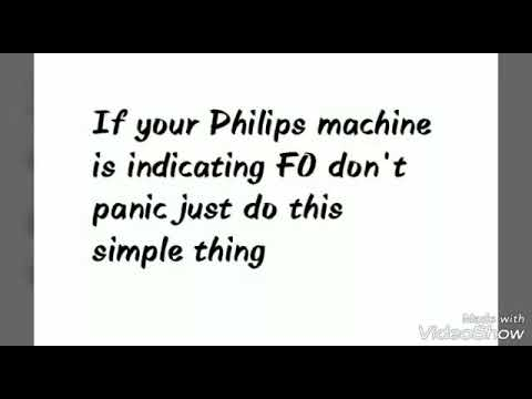 How to remove f0/fo indication in Philips air purifier
