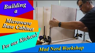 how to build a microwave base cabinet the easy way