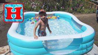 видео Надувной бассейн для детей