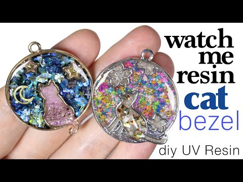 Watch me Resin Cat Bezel Charm Tutorial