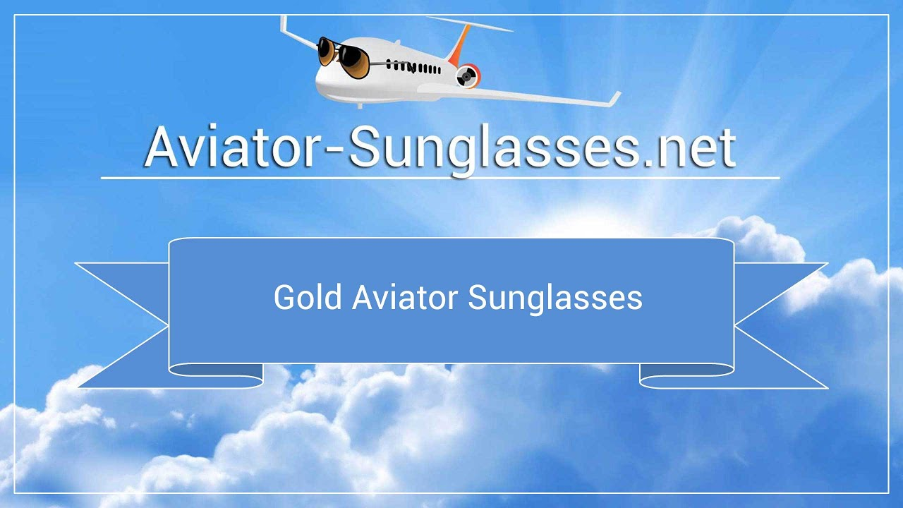 Gold Aviator Sunglasses by Randolph Engineering - YouTube 2217b9286449