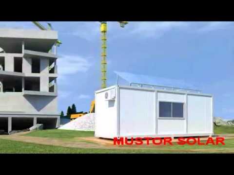 Système photovoltaïque pour conteneur de construction - MUSTOR SOLAR