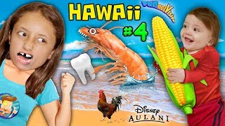 Shrimp, Corn & Loose Tooth! YUMMY Hawaii North Shore Beach Fun! FUNnel Vision Disney Aulani Tri