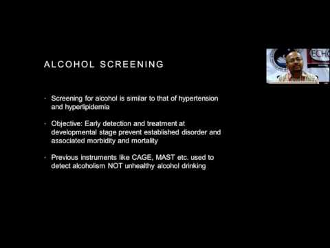 Screening for  Alcohol Abuse by Dr.Prabhat Kumar Chand
