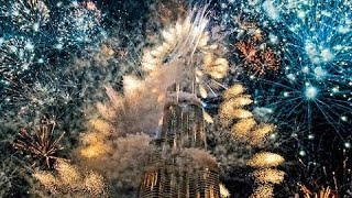 NEW YEARS CELEBRATION IN DUBAI - INCREDIBLE FIREWORKS DISPLAY !!!