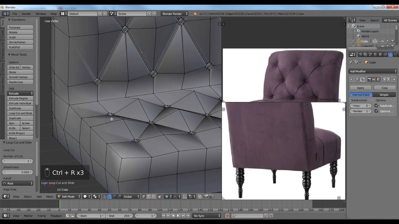 Blender Tutorial Modeling A Antique Chair Part 2 Of 3 YouTube