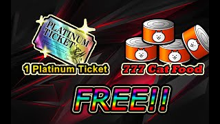 How to get a free Platinum Ticket and Cat Food in The Battle Cats || BCJP 7th year Anniversary