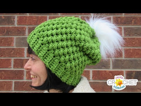 Chunky Bean Stitch Winter Hat Crochet Tutorial