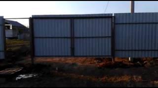 Установка забора из профнастила в д. Есипово Солнечногорского района - отзыв клиента
