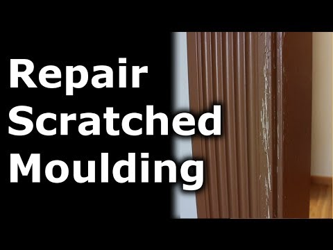 How To Repair Scratches In Your Moulding Walls Youtube