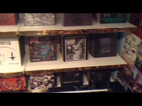 My cave.black- death metal vinyl collection room