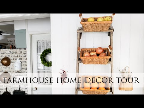 Farmhouse Decor Tour with Upcycled Ladder Project